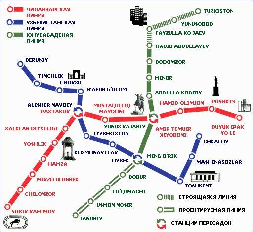 к действующей ветке метро